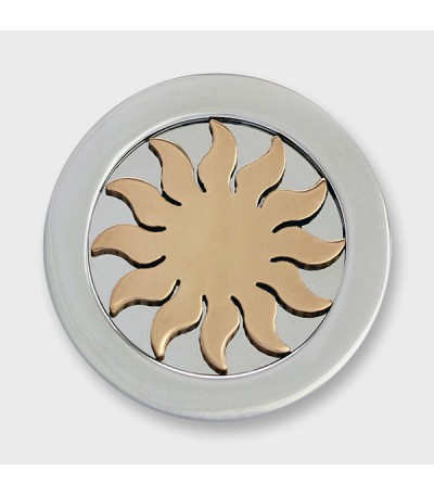 3D SUN STAINLESS STEEL ROSEGOLD-PLATED