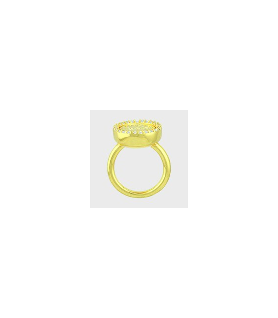 RING AMOR DE LUXE SILVER GOLD-PLATED 54