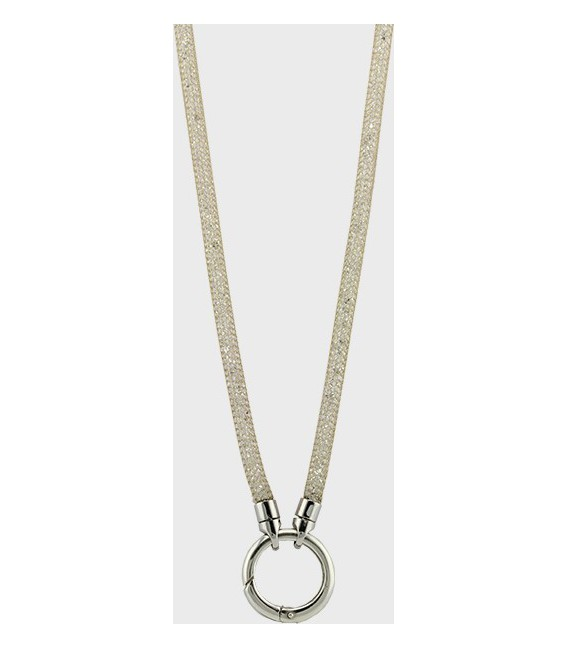 NECKLACE DE LUXE SILVER GOLD-PLATE WITH