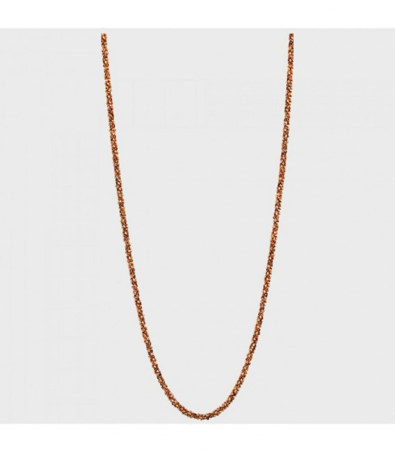 NECKLACE DESTELLO SILVER ROSEGOLD-PLATED