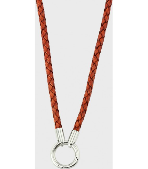 NECKLACE RED LEATHER