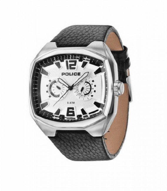FAIRPLAY MULTI SILVER DIAL BLACK STRAP
