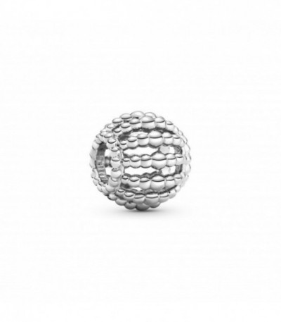 BEADED STERLING SILVER CHARM